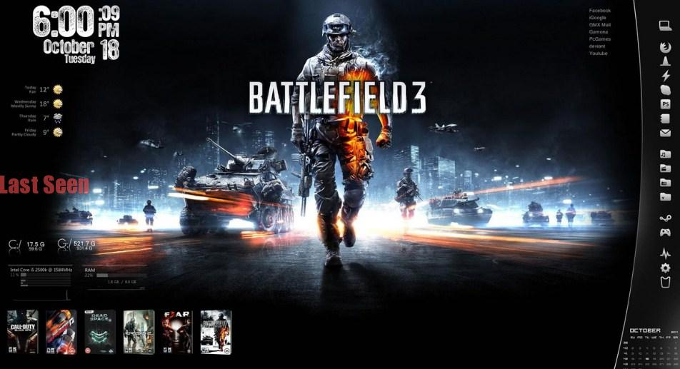 Battlefield 3 Skin Custom Desktop Background