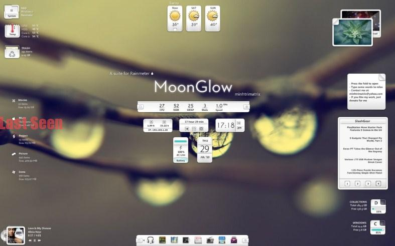 Moon Glow Skin Custom Desktop Background