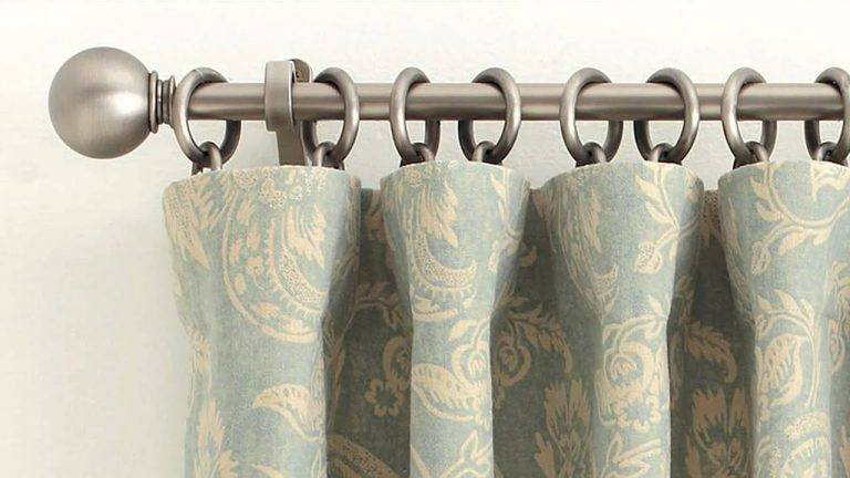 DIY Bathroom Curtain Using Round Rings 5 Simple Steps