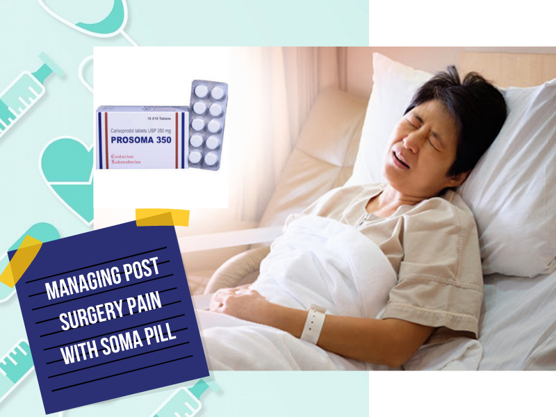 Managing post surgery pain with Soma pill